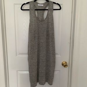 Everlane grey linen tank dress